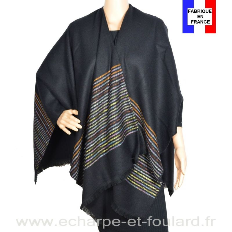 Poncho Luminescent noir made in France