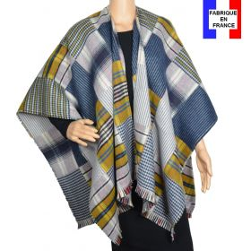 Poncho Patch bleu et jaune made in France