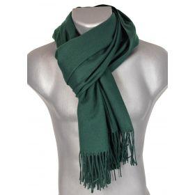 Echarpe très douce cachemire-laine verte
