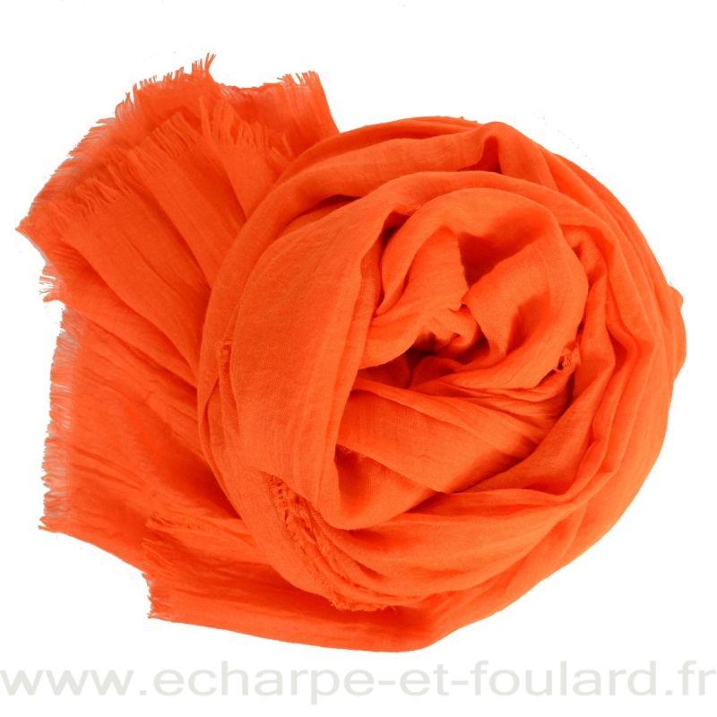 Grand cheche orange