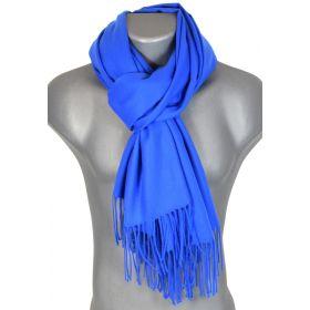 Echarpe très douce cachemire-laine bleue