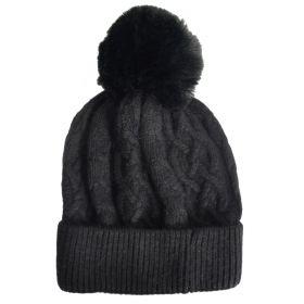 Bonnet en cachemire et viscose noir