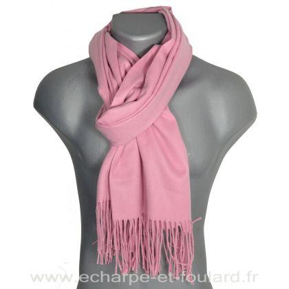 Echarpe très douce cachemire-laine rose clair
