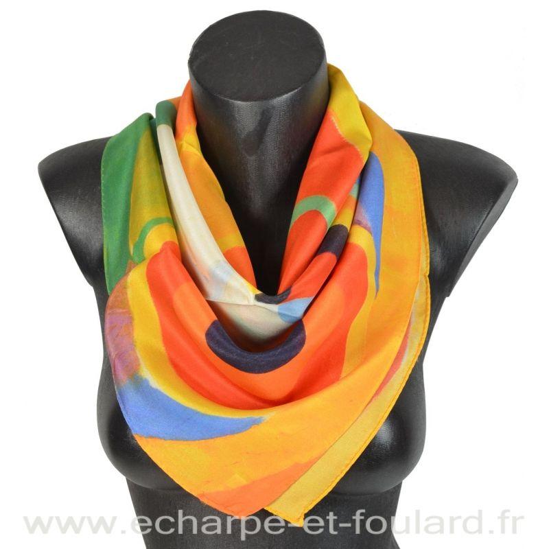Foulard en soie Delaunay, Rythme Joie de Vivre