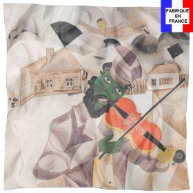 Foulard en soie Chagall, La musique