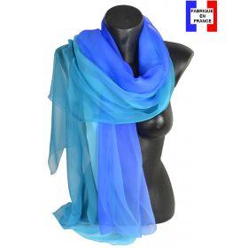 Etole cérémonie en soie dégradé bleu fabriquée en France