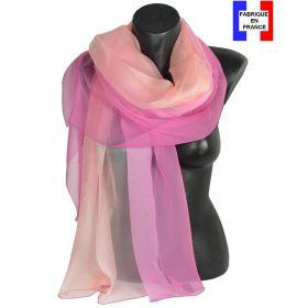 Etole cérémonie en soie dégradé rose fabriquée en France