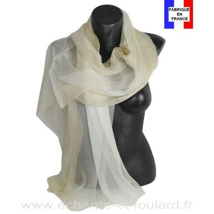Etole cérémonie en soie dégradé beige fabriquée en France