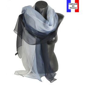 Etole cérémonie en soie noir et blanche fabriquée en France