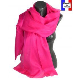 Etole cérémonie en soie rose fuchsia fabriquée en France