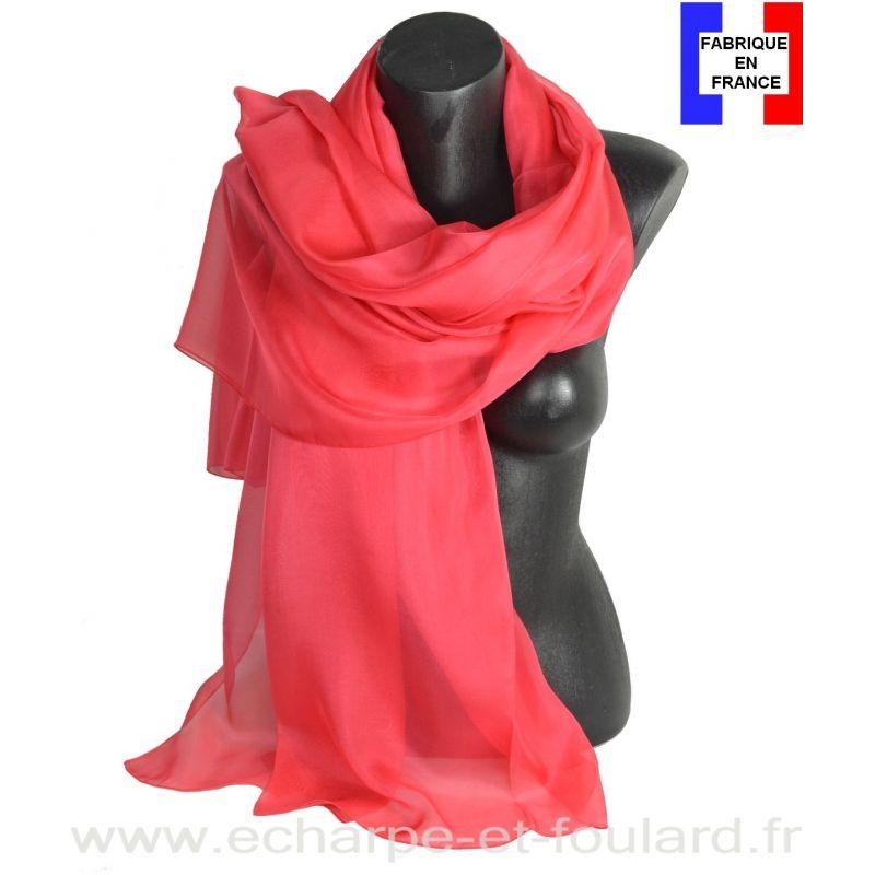 Etole cérémonie en soie corail fabriquée en France
