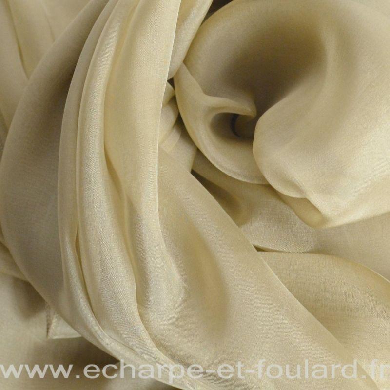 Etole cérémonie en soie beige fabriquée en France