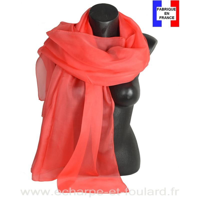 Etole cérémonie en soie pêche fabriquée en France