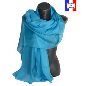 Etole cérémonie en soie turquoise fabriquée en France
