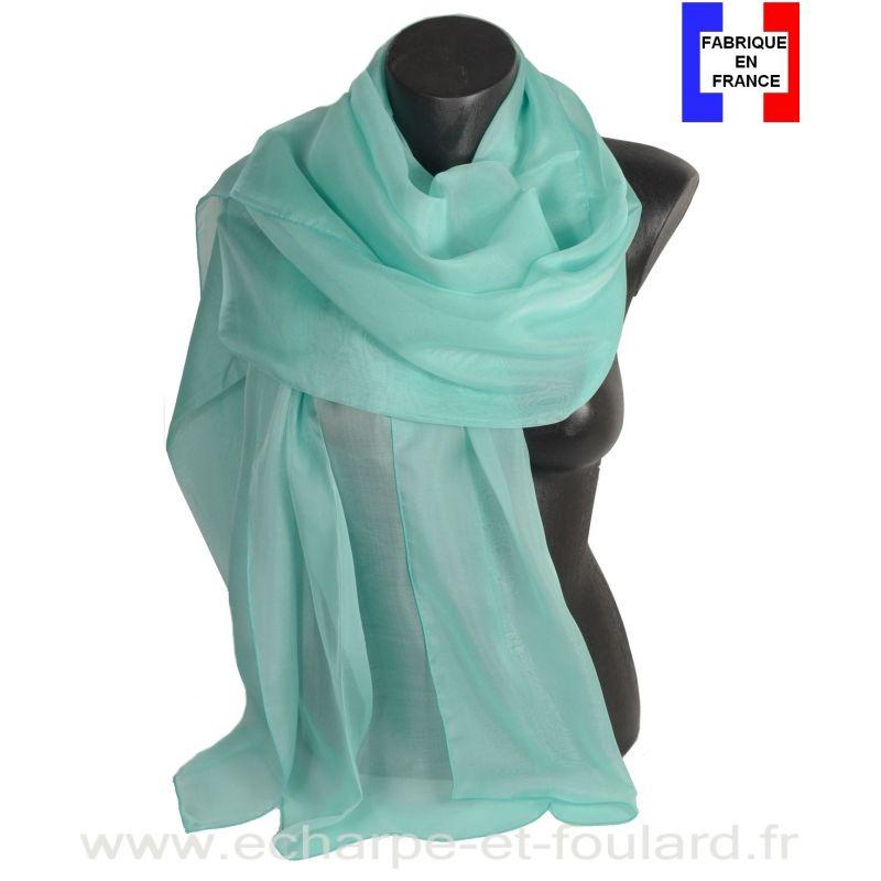 Etole cérémonie en soie aqua fabriquée en France