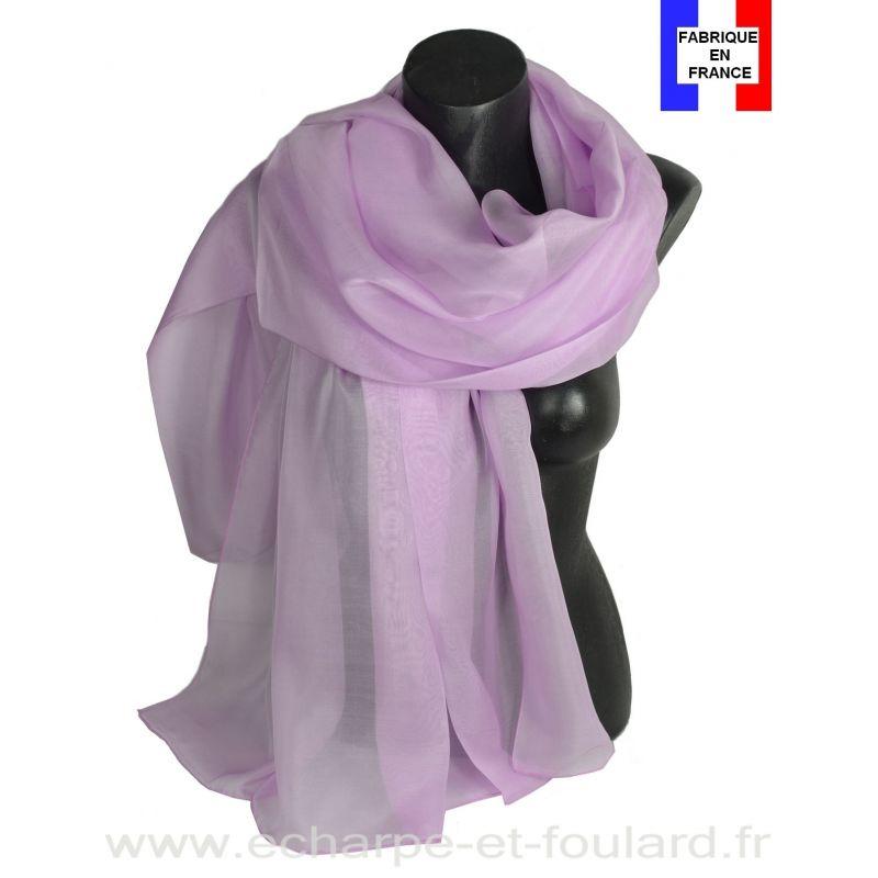 Etole cérémonie en soie mauve fabriquée en France