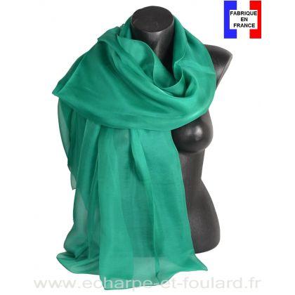 Etole cérémonie en soie émeraude fabriquée en France
