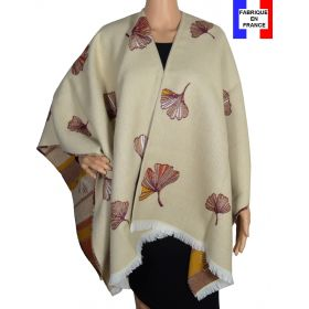 Poncho Acanthe écru made in France
