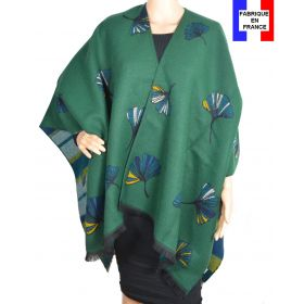 Poncho Acanthe vert made in France