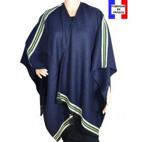 Poncho Couture bleu made in France