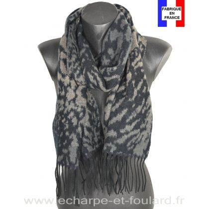 Echarpe cashcryl Fauve - gris Made in France