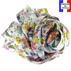 Echarpe de soie Romantique rose fabriquée en France