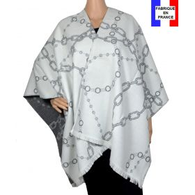 Poncho Alliance blanc made in France