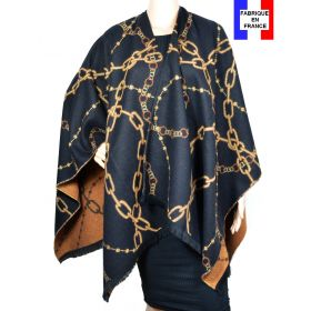 Poncho Alliance noir made in France