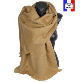 Châle mohair beige fabriqué en France