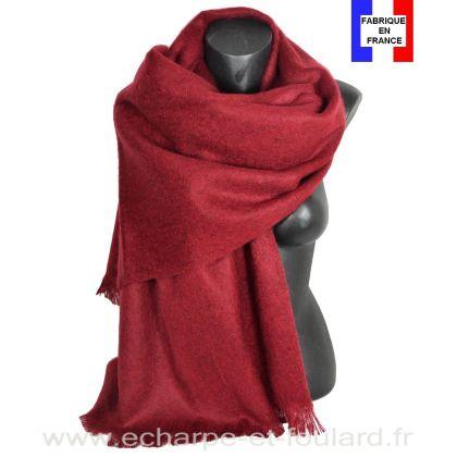 Châle mohair bordeaux fabriqué en France