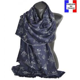 Etole mérinos Liberty bleue Made in France
