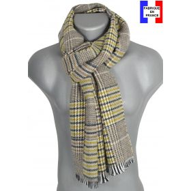 Echarpe Pele-Mele jaune made in France