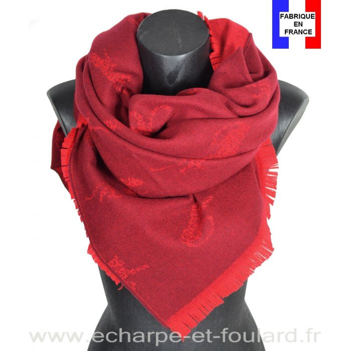 Châle panthère rouge made in France