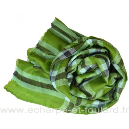 Pashmina en cachemire vert