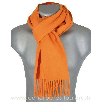 Echarpe en 100% cachemire orange