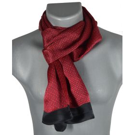 Foulard homme en soie maille rouge-noir