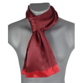 Foulard homme en soie maille rouge