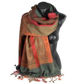 Etole style pashmina indien gris foncé