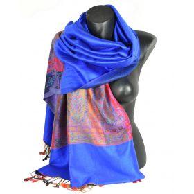 Etole style pashmina indien bleu electrique
