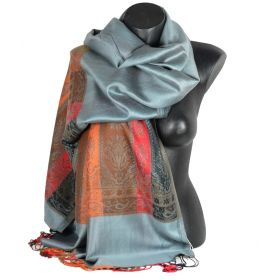 Etole style pashmina indien grise
