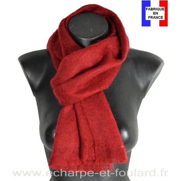 Echarpe mohair bordeaux fabriquée en France