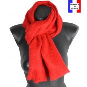 Echarpe mohair rouge fabriquée en France