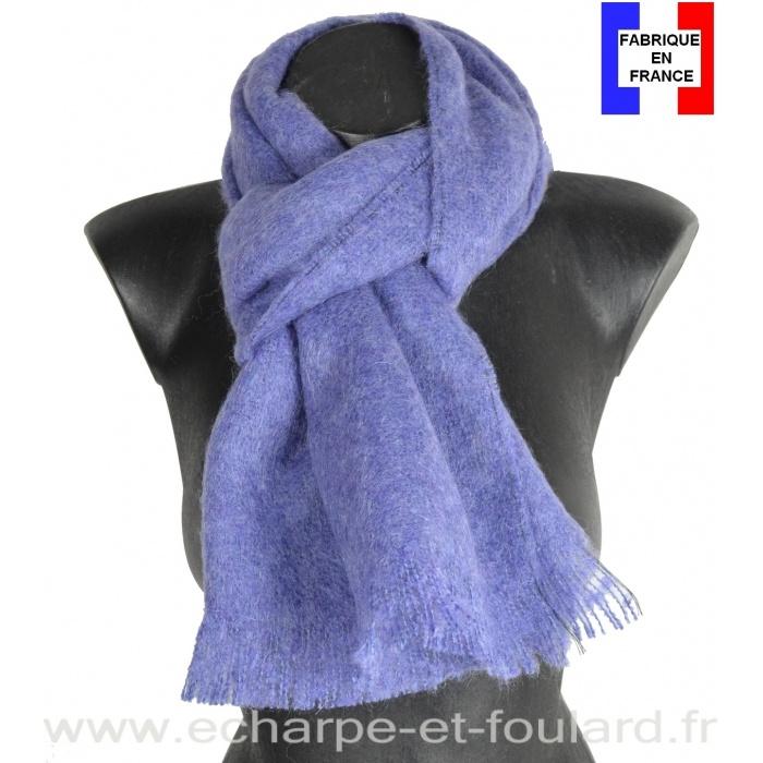 Echarpe mohair lavande fabriquée en France