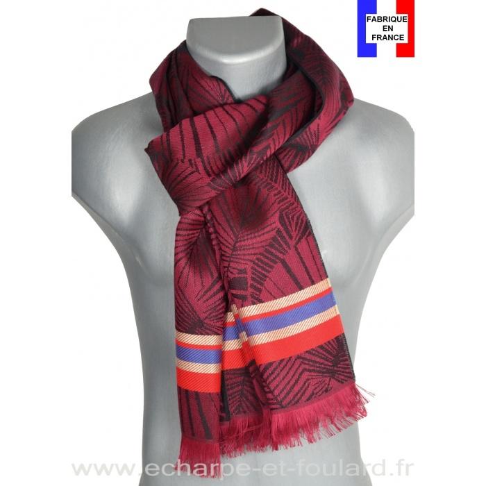 Echarpe Maki bordeaux made in France