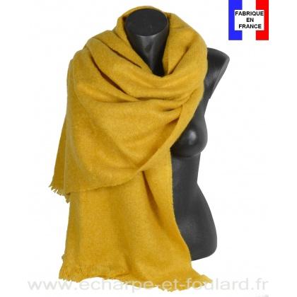 Châle mohair jaune fabriqué en France