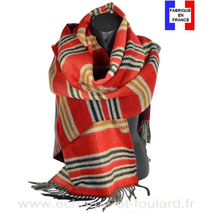 Châle Officiel rouge made in France