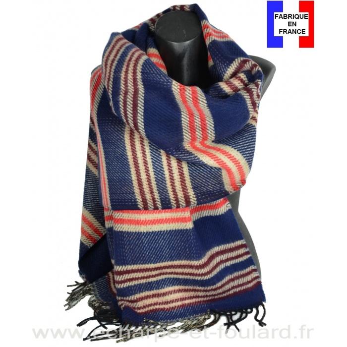 Châle Officiel bleu made in France