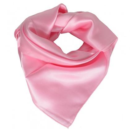 Carré en soie rose