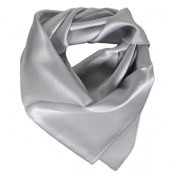 Carré en soie gris