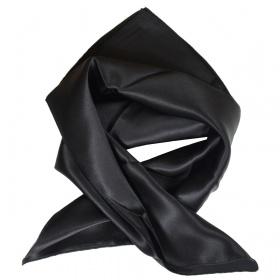 Carré en soie noir